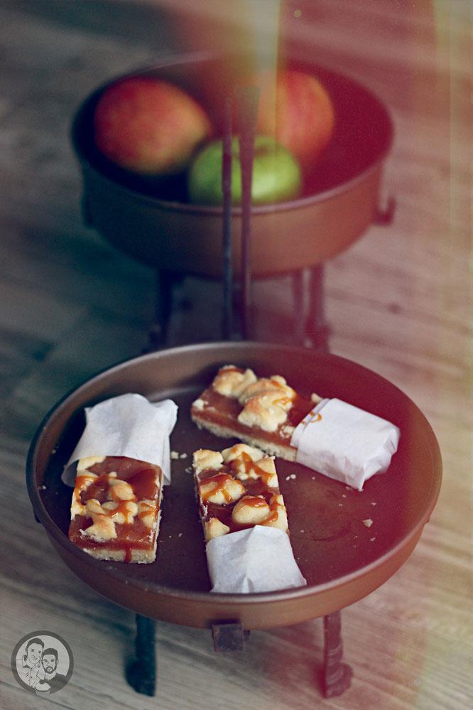 Apfel-Karamell Shortbread