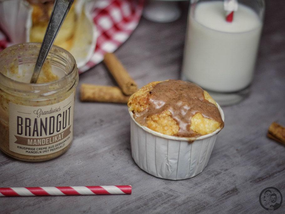Apfel Muffins mit gebrannten Mandeln_Rezept_Backen