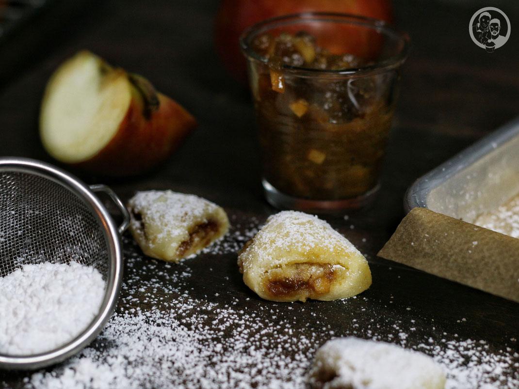Bratapfel-Marzipan-Triangel_Rezept_Backen_Weihnachten_Plätzchen_Kenwood Cooking Chef