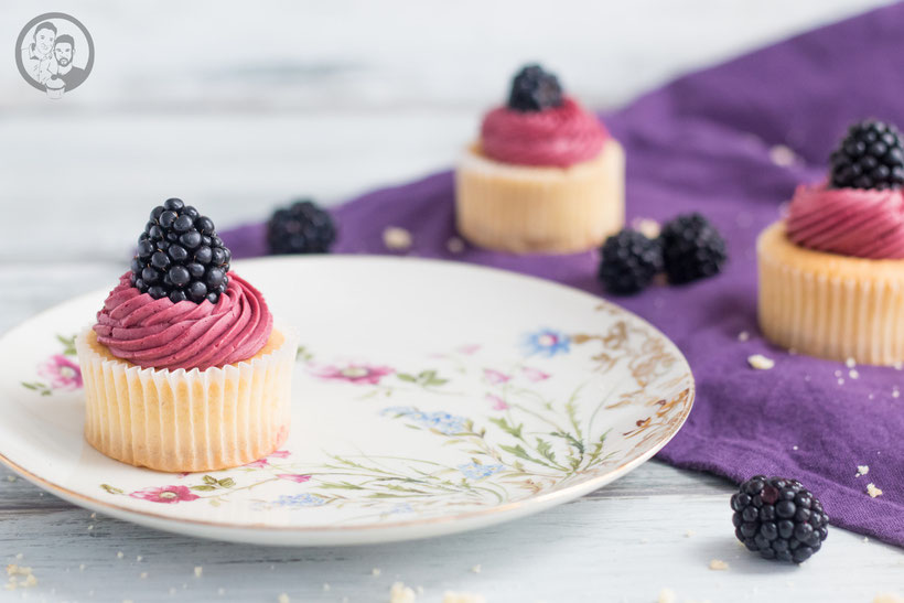 Brombeer Cupcakes - Rezept
