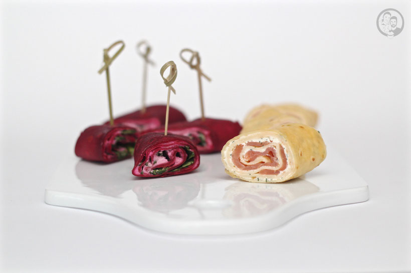 Crêpes mit Lach & Rote Bete Crêpes