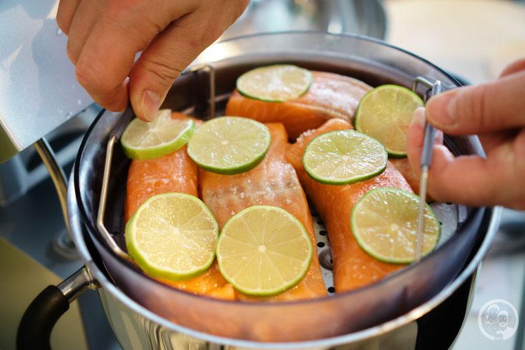 Gedämpfter Lachs_Asiagemüse_kochen_Rezept_Kenwood_Küchenparty_Cooking Chef