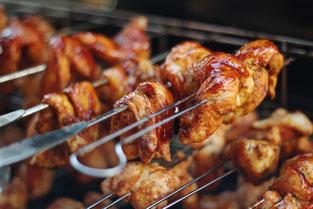 Hähnchenspieße mit BBQ-Sauce