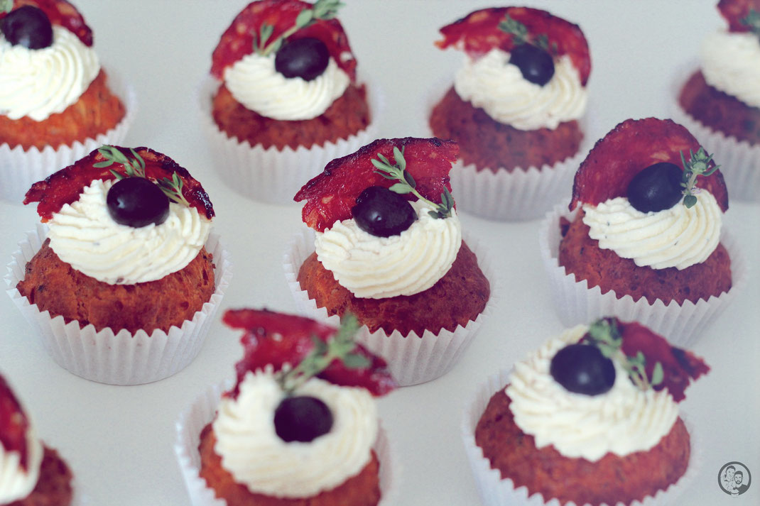 Herzhafte spanische Cupcakes