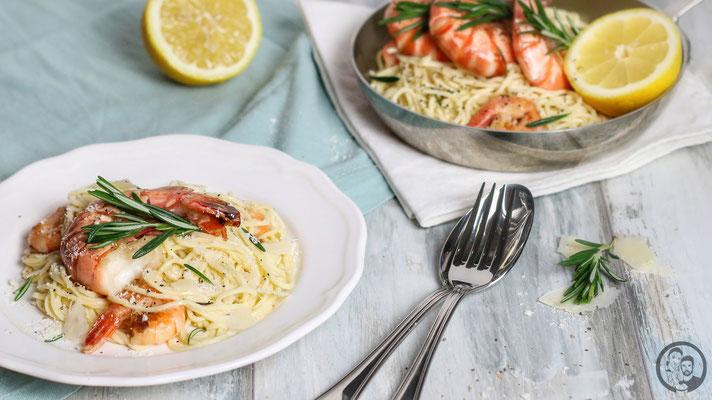 Gin Zitronen Pasta mit Garnelen_Kochen_Rezept