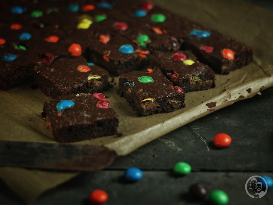 M&M Brownies_USA_Rezept_Gebäck_backen