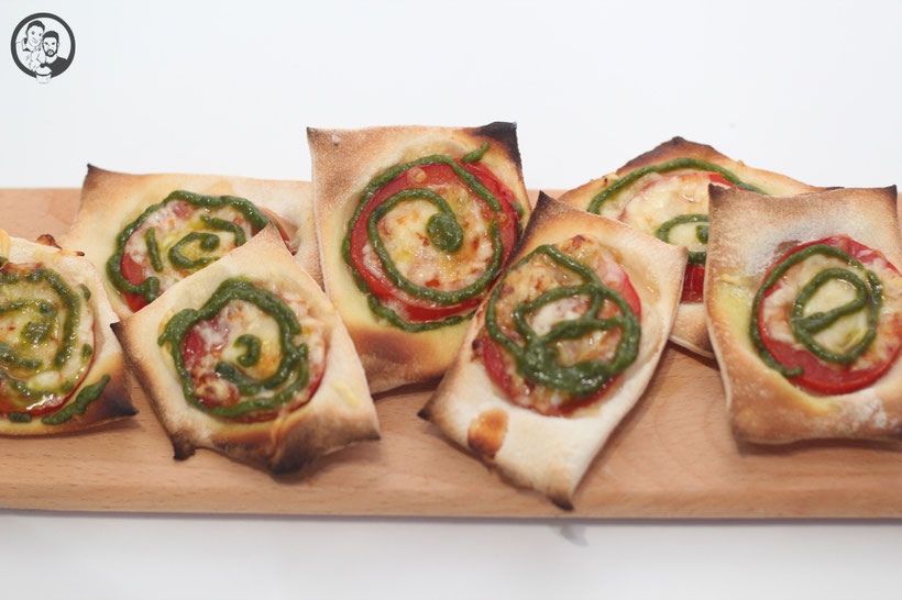 Pizza Snacks mit Pesto