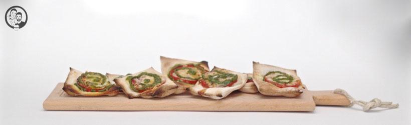 Pizza Snacksmit Pesto