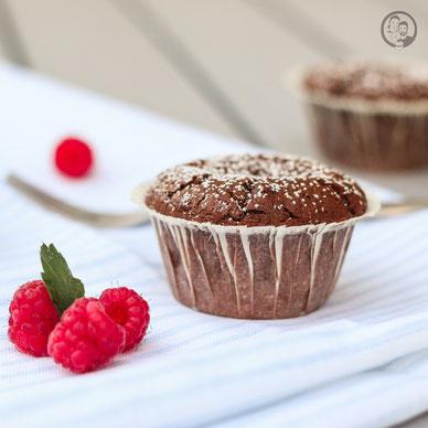 Schoko-Himbeer Muffins - Rezept