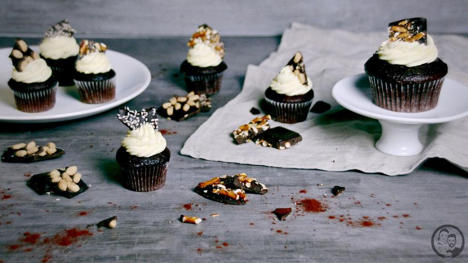 Schoko Pudding Cupcakes_Rezept_backen