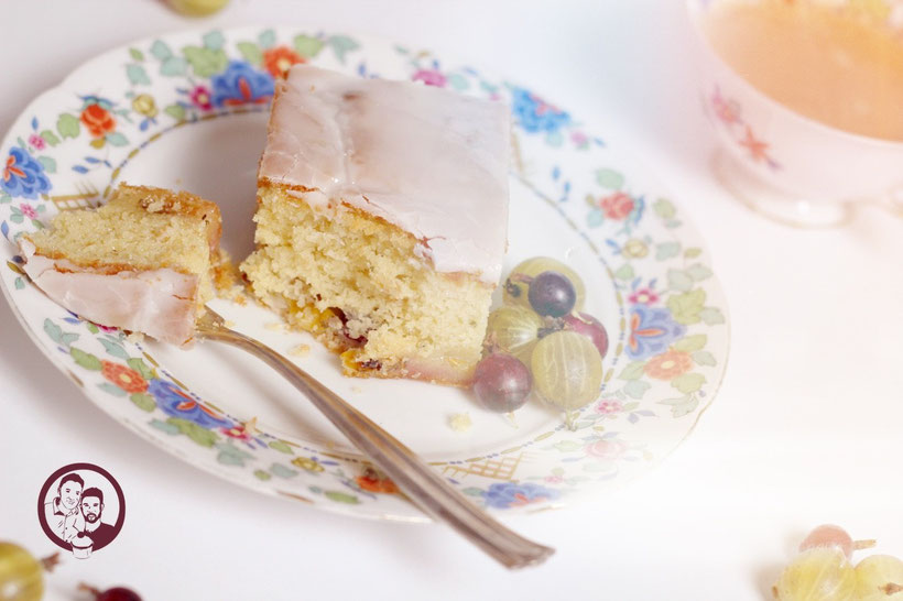 Stachelbeer-Rosmarin Kuchen