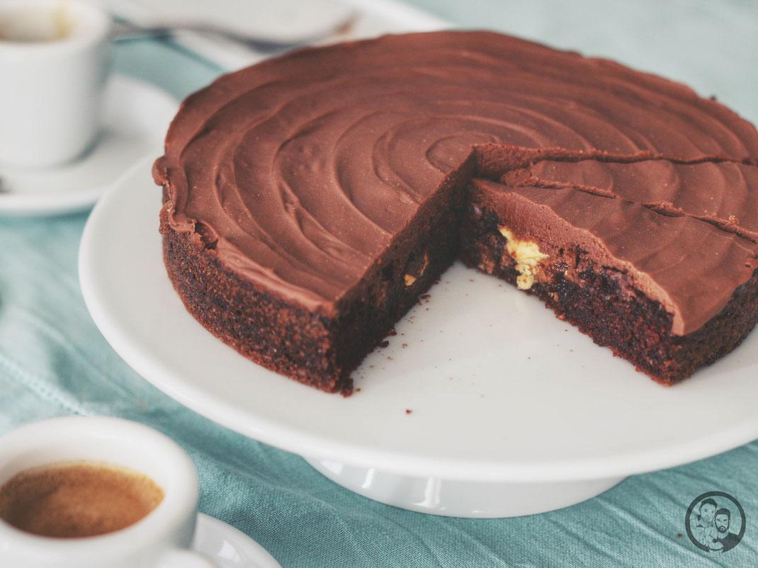 Triple Chocolate Cake_Kuchen_Rezept_backen