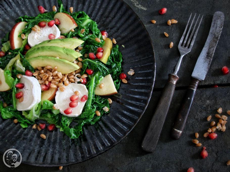 Wirsing-Dinkel-Salat_Rezept_Kochen_Gesund