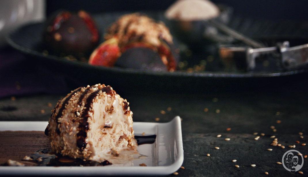 Ziegenkäse_Eis_Feige_Balsamico_Eismaschine_Rezept_Dessert_Eisdessert