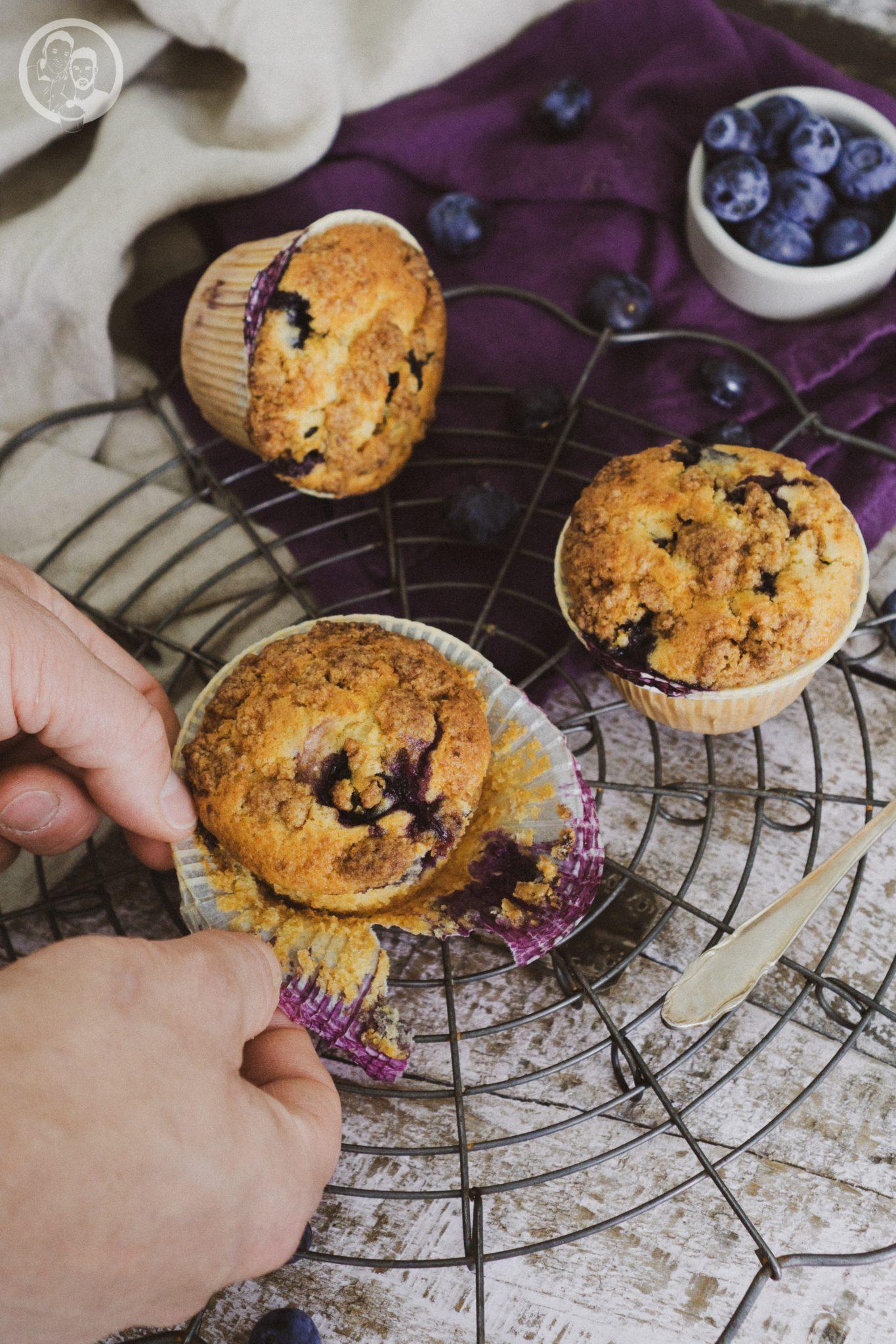 Muffin beim öffnen