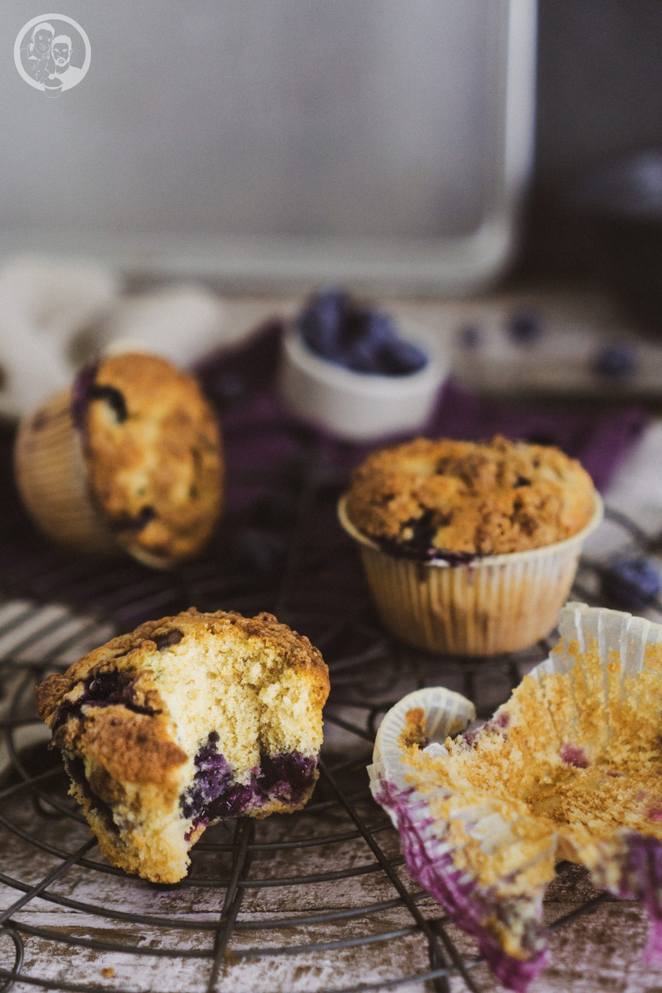 Muffin angebissen