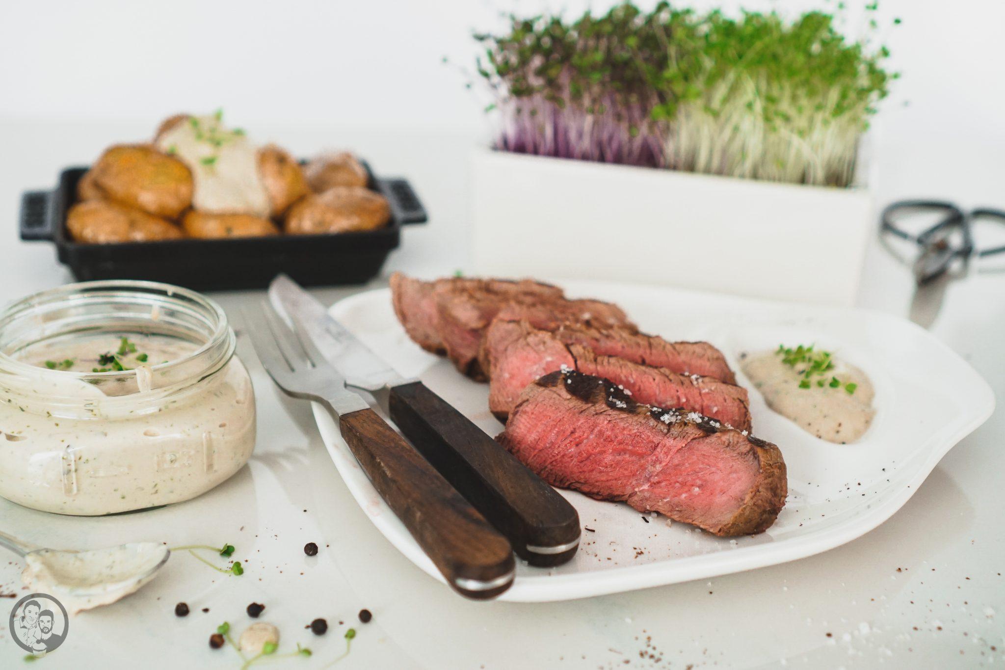 Fleisch zu BBQ-Sauce